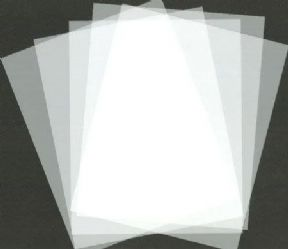 100 x A4 Frosted Acetate - 500 Micron Thick